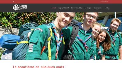 Capture site internet Scouts Lannion